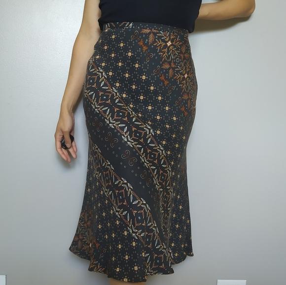 Y2K Floral Midi Skirt